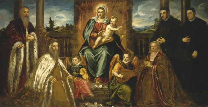 """Jacopo Tintoretto """"Doge Alvise Mocenigo and Family before the Madonna and Child"""""""