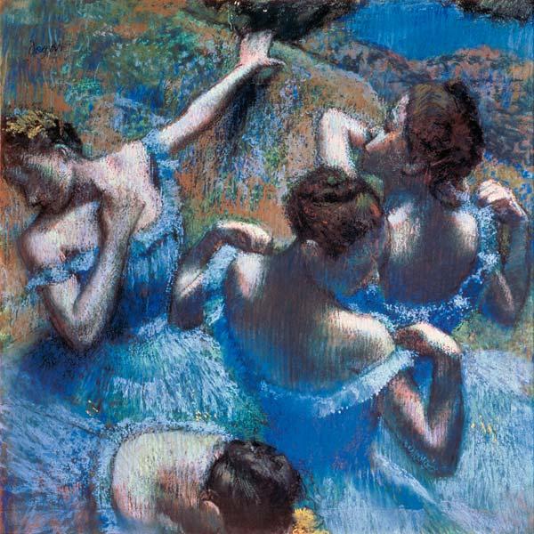 "Edgar Degas ""Tänzerinnen in Blau"""