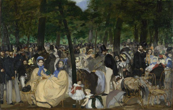 "Edouard Manet ""Musik in den Tuilerien"""