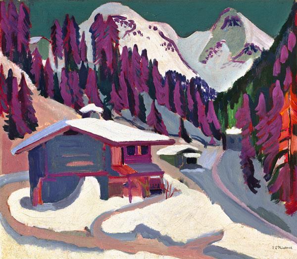 """Ernst Ludwig Kirchner """"Wildboden im Schnee"""""""