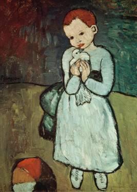 """Pablo Picasso """"Mädchen mit Taube"""""""