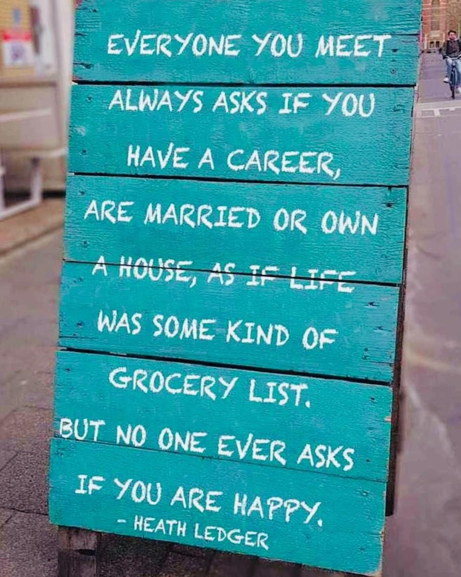 Hauptsache ihr seid glücklich